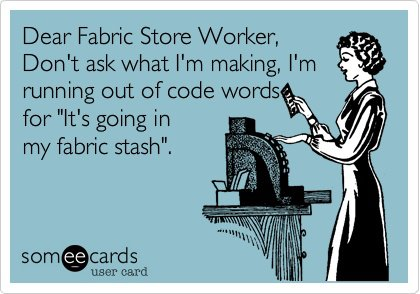 Dear Fabric Store Worker