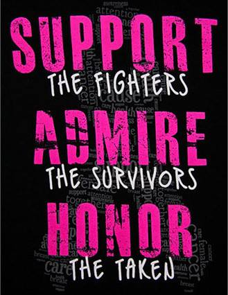 Breast Cancer Site Support Admire Honor Tee