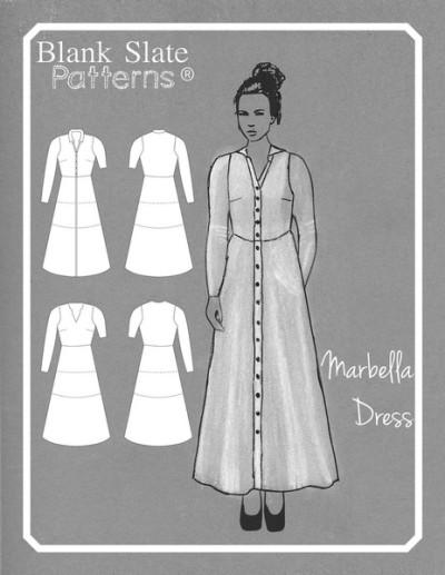 Blank Slate Marbella Pattern - Line Drawing